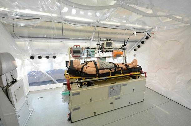 Lufthansa presentó avión preparado para Ebola