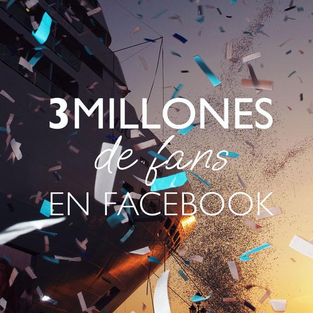 La compañía tiene3 millones de seguidores en Facebook