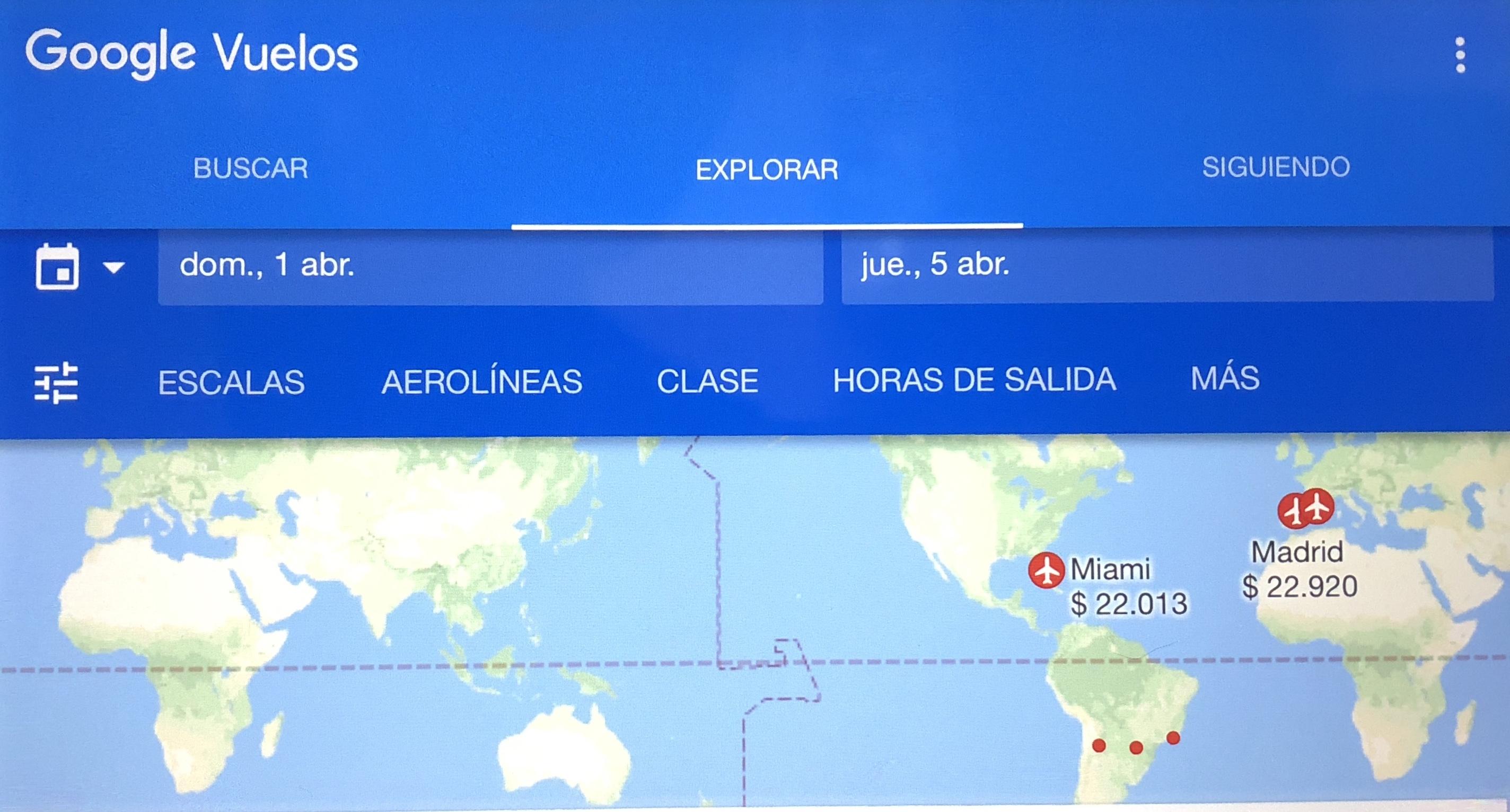 Llegó Google Flights, para comparar y comprar pasajes al mejor precio