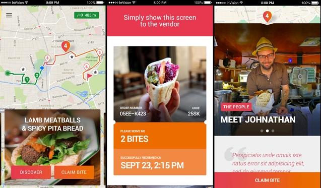 Una app que organiza tours gastronómicos