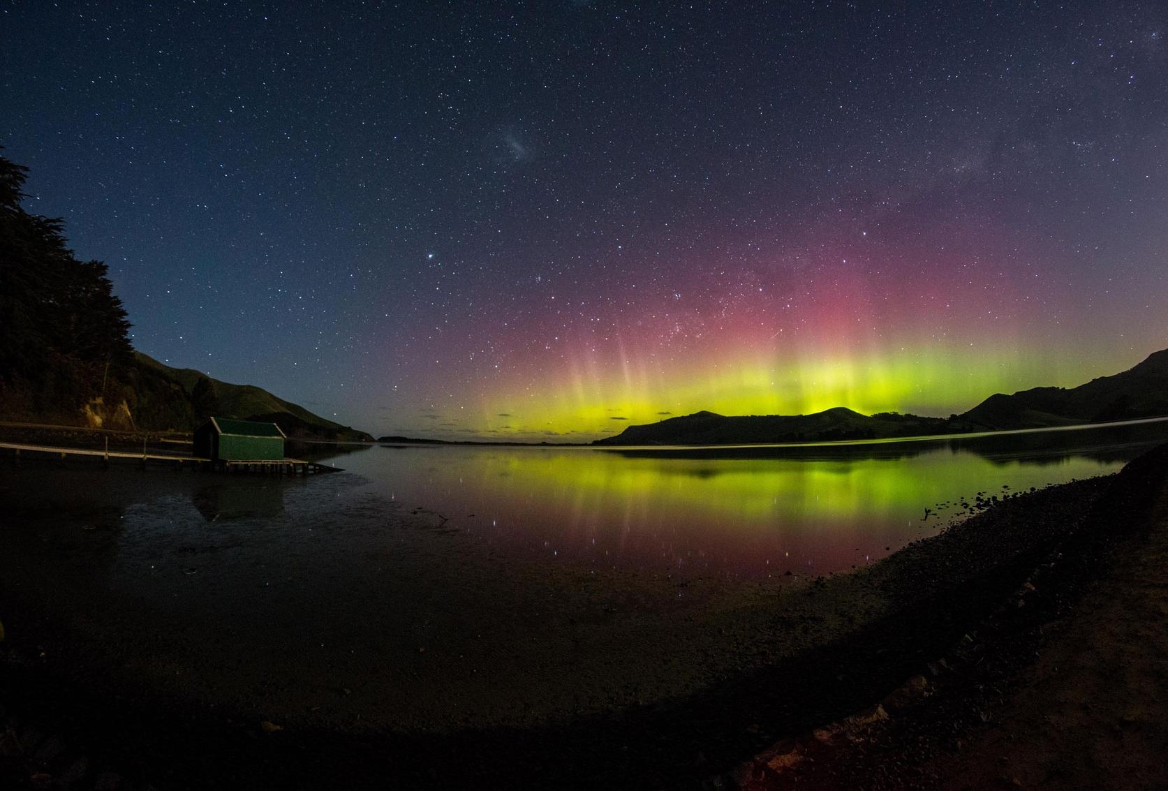 Auroras boreales, pero en el sur