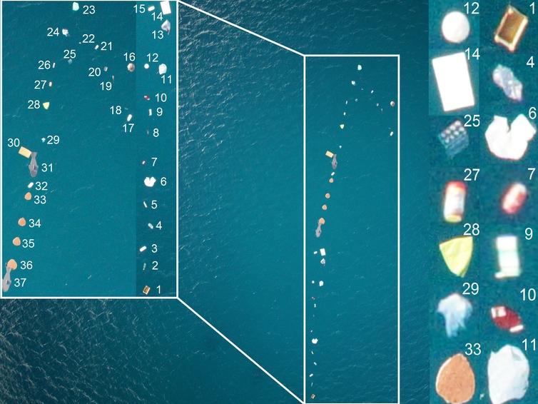 Así se detecta y se cuenta la basura que flota en el mar