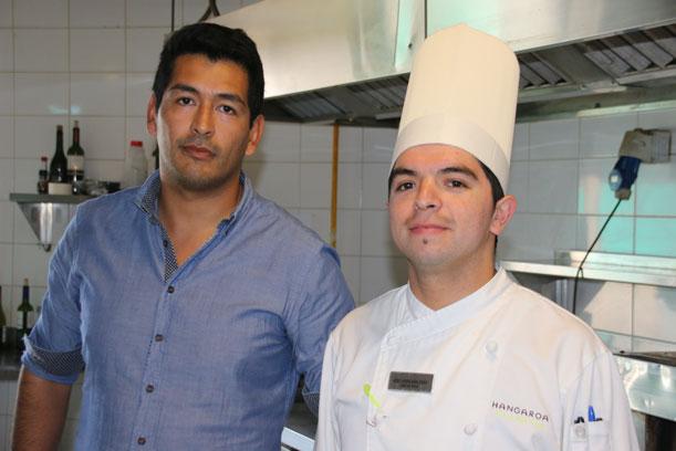 Sebastián Acosta, Subgerente y Gerente de Alimentos y Bebidas yJosé Vergara Díaz, Chef de cocina