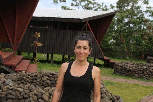 Marcela Martínez,Gerente del complejo de cabañas Morerava