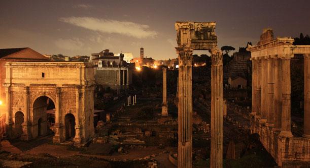 Visitas nocturnas delForo Romano