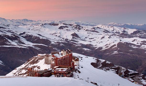 Un centro para esquiar a menos de una hora de Santiago