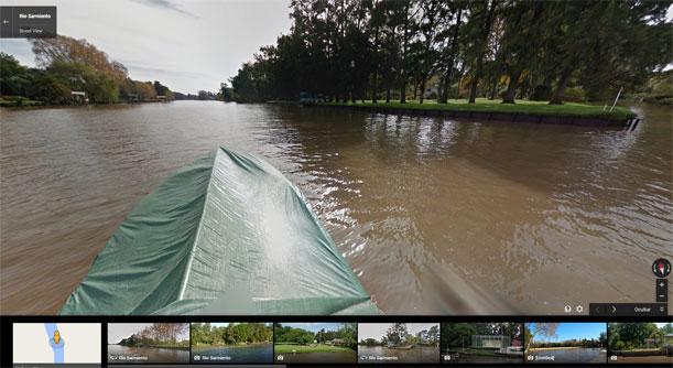 Tigre se visita con Google Street View