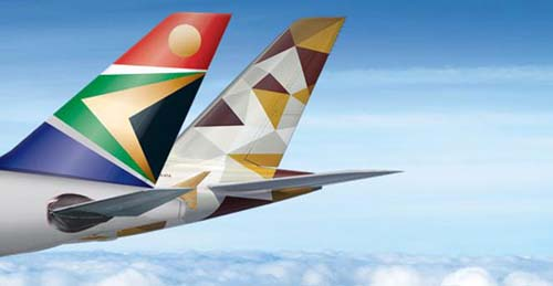 South African Airways y Etihad Airways siguen con su Cooperación Estratégica