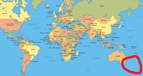 Nueva Zelanda no aparece en los mapas
