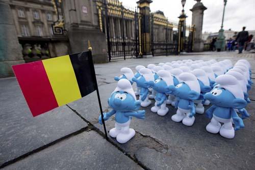 Los pitufos te esperan en Bruselas hasta septiembre