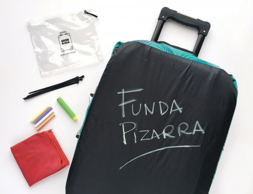Una funda para escribir tu nombre sobre tu valija