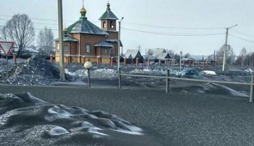 En Rusia: la nieve es negra...