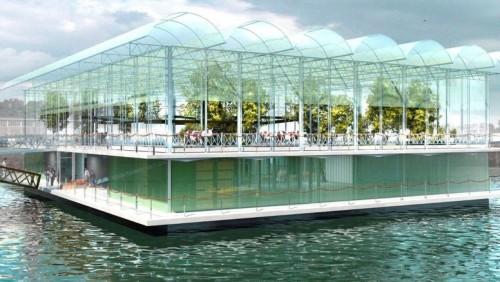 Una granja flotante en el puerto de Rotterdam