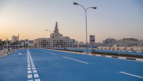 En Doha, el asfalto es azul