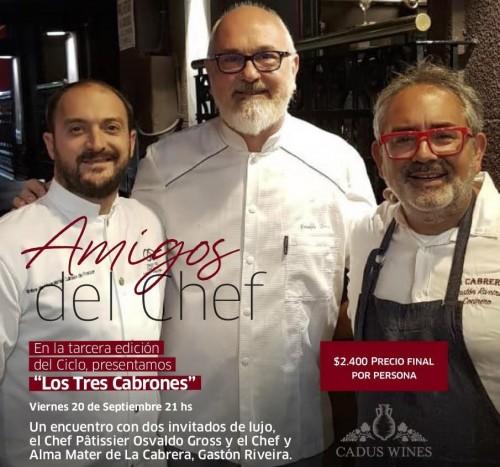 Una cena con tres chefs de excepción en el hotel Sofitel de Cardales