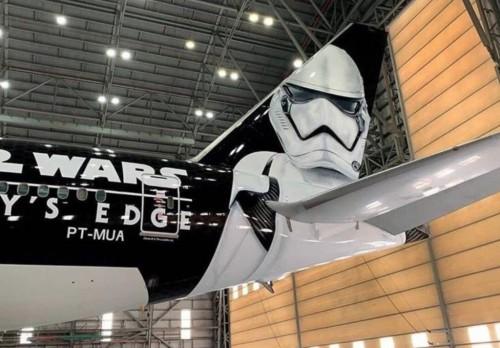 LATAM: un avión ploteado con Star Wars
