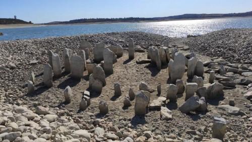 Una sequía reveló el Stonehenge español