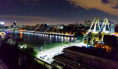 Una fiesta de fin año con vista sobre Puerto Madero