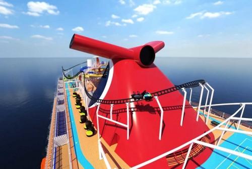 Instalarán una montaña rusa sobre un barco de crucero