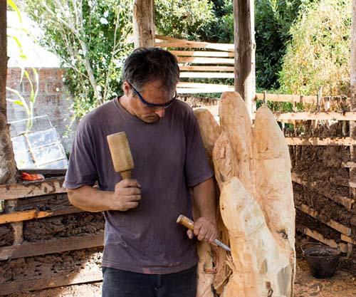 Tallado en madera con Fernando Sánchez