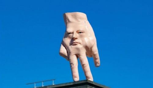 La mano con cara de Nueva Zelanda