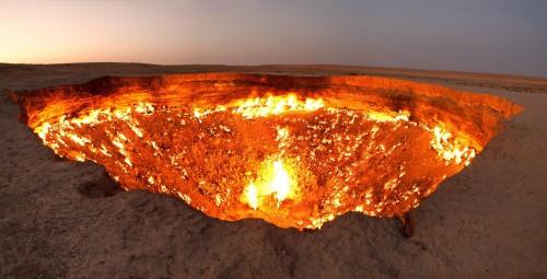 La Puerta del Infierno está en Turkmenistán