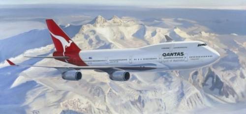 Sin vuelos internacionales, Qantas organiza sobrevuelos de la Antártida
