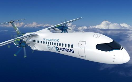 Airbus presentó tres proyectos de aviones cero-emisiones