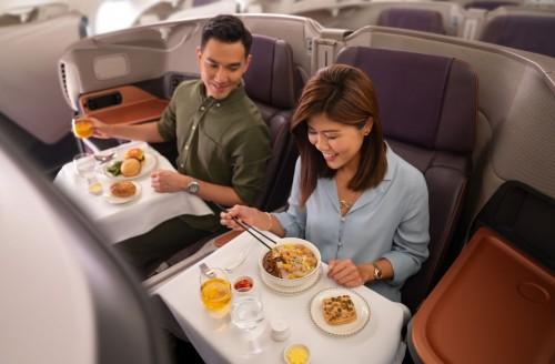 Un Airbus de Singapore Airlines transformado en restaurante