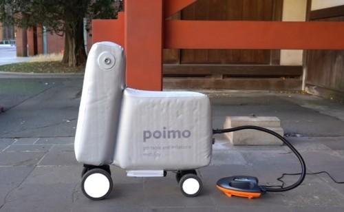 Inventaron un scooter eléctrico inflable