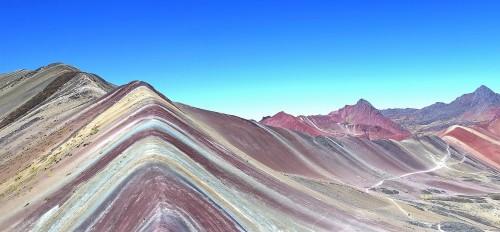 Como son los colores reales de Vinicunca, en Perú