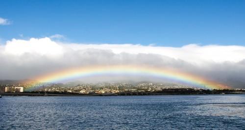 Los mejores arcoíris del mundo están en Hawái