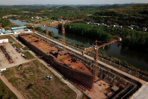 Construyen una réplica del Titanic en China