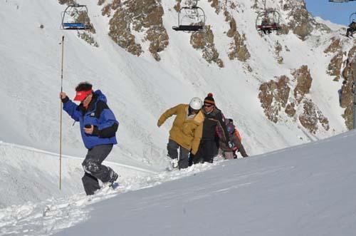 Protección contraavalanchas en el centro de esquí de Esquel