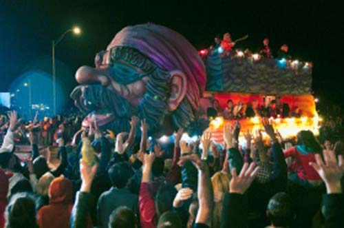 El carnaval también está en Galveston, Texas