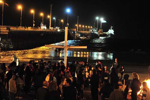 Un Vía Crucis bajo las aguas del Golfo Nuevo