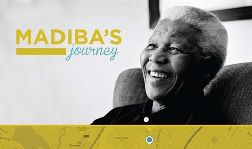 Una app para seguir las huellas de Nelson Mandela