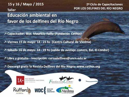 Capacitación en favor de los delfines del Río Negro
