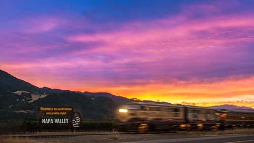 A bordo del tren del vino, por el Valle de Napa
