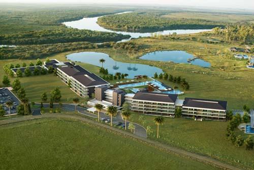 Un resort all inclusivetermal y un club de golf
