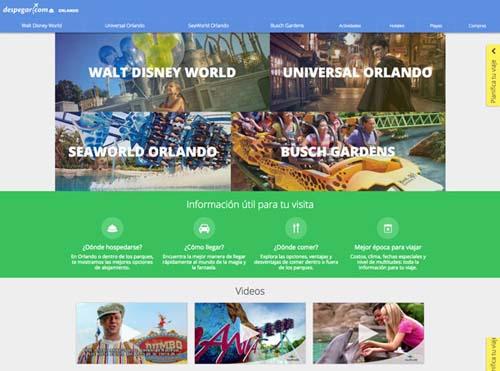 Despegar.com lanzó un nuevo sitio sobre Orlando