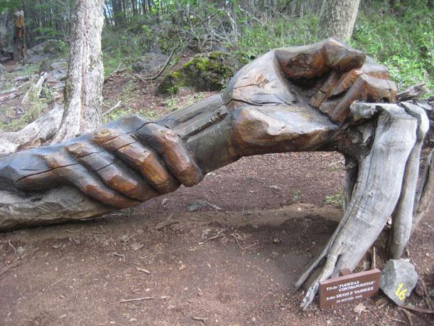 Nuevas esculturas en el Bosque Tallado