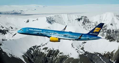 La compañía islandesa dedica uno de sus aviones al mayor glaciar de Europa