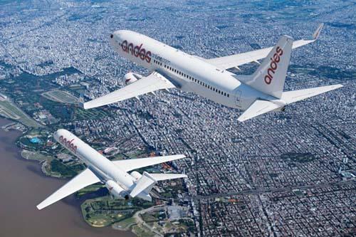 """Andes lidera en la Argentina la """"revolución de los aviones"""""""
